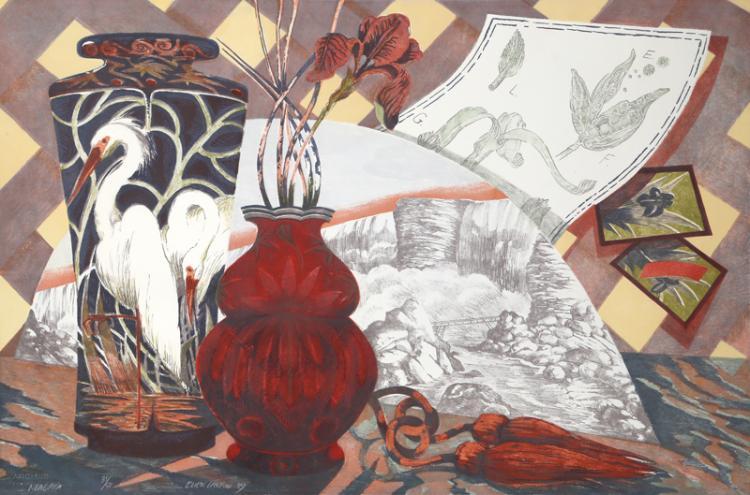 Niagara, lithograph, Ellen Lanyon, (Image courtesy of the artist)