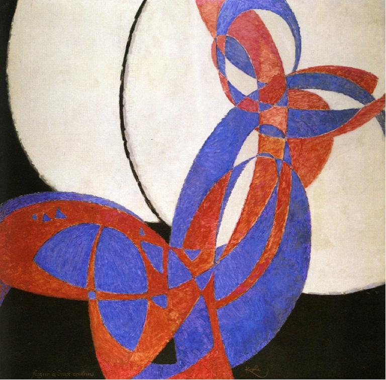 František Kupka, 1912, Amorpha, fugue en deux couleurs (Fugue in Two Colors), (Image courtesy of Narodni Galerie, Prague)