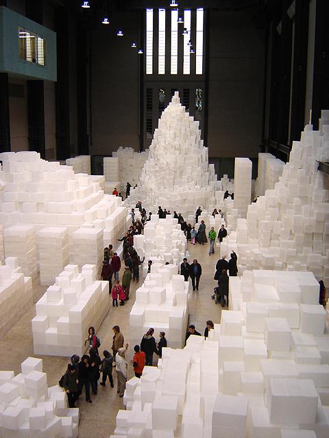 Embankment by Rachel Whiteread. Turbine Hall, The Tate Modern, Bankside, London. 12 November 2005