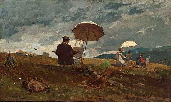 Artists Sketching in the White Mountains, Winslow Homer   (Image courtesy of Portland Museum of Art)