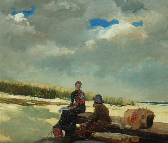 Cloud Shadows, Winslow Homer, oil on canvas, (Image courtesy of the Helen Foresman Spencer Museum of Art)