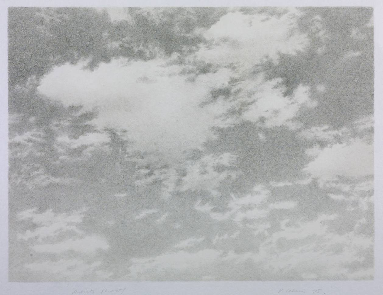 Sky, 1975, Vija Celmins, Lithograph on paper, (Image courtesy of the Tate, London)