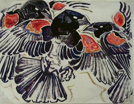 Redwing Blackbirds, Walter Anderson (Image courtesy of Walter Anderson Museum of Art