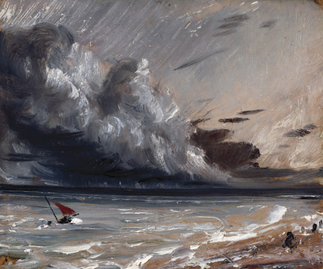Seascape Study, Boat and Stormy Sky, 1824, John  Constable  (Image courtesy of the Royal Academy)