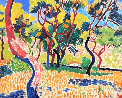 Arbres à a Coullioure, 1905, oil on canvas, Andre Derain