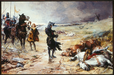 The Battle of Crecy, Julian Russell Story, oil on canvas, 1888, (Image courtesy of the Telfair Museums, Savannah, GA)