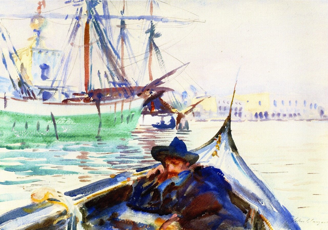 The Guidecca (A Summer Day on the Giudecca, Venice, watercolour, John Singer Sargent
