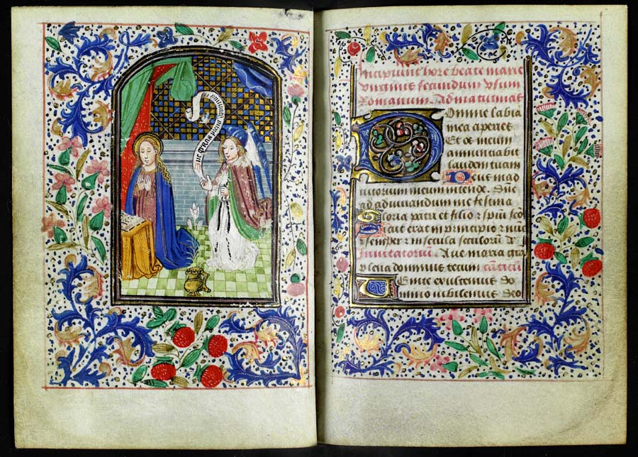 Produced in the Netherlands in about 1460, this Book  of Hours is from the  Euing Collection . University of Glasgow