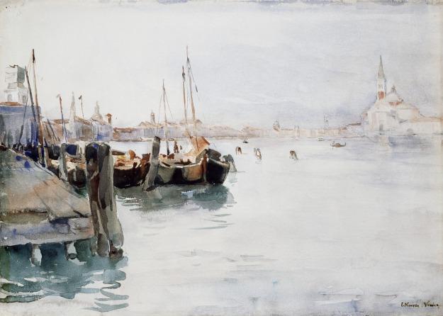 Venice, watercolor over traces of pencil, 1891. Elizabeth Nourse, (Image courtesy of the Cincinnati Art Museum)
