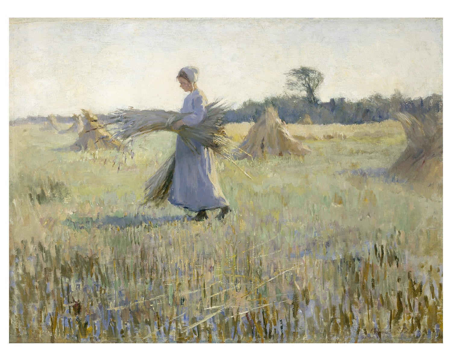 Girl carrying Sheaves (Harvest - Holland), c. 1895, Anna Henry, Private collection