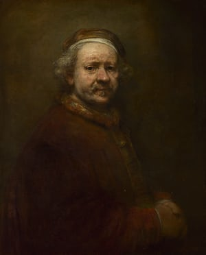 Self-Portrait at the age of 63, Rembrandt.1669, (Image courtesy of the National Gallery)