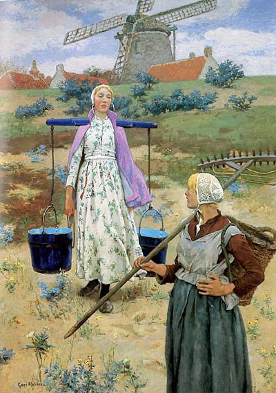 In Holland,  1887,Oil on canvas, Gari Melchers Gari Melchers Home and Studio, Fredericksburg, Virginia