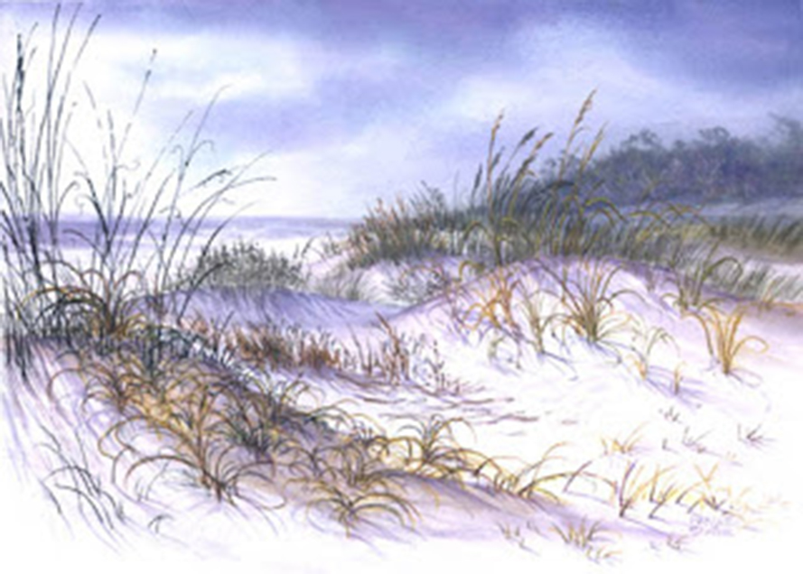 Mafrjett Schille, Sapelo Dunes, mixed media (Image courtesy of the artist)
