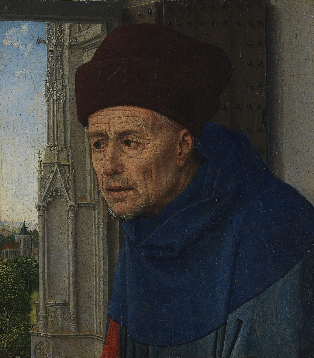 St.Joseph, Rogier van der Weyden, between circa 1435 and circa 1437 , tempera and oil on panel, (Image courtesy of the Calouste Gulbenkian Museum, Lisbon)