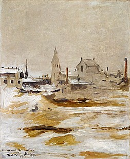Edouard Manet - Effect of Snow at Petit-Montrouge, 1870