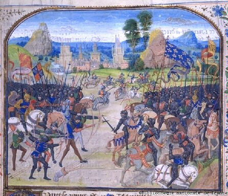 The Battle of Poitiers, Jean Froissart (Image courtesy of Bibliotheque Nationale de France)