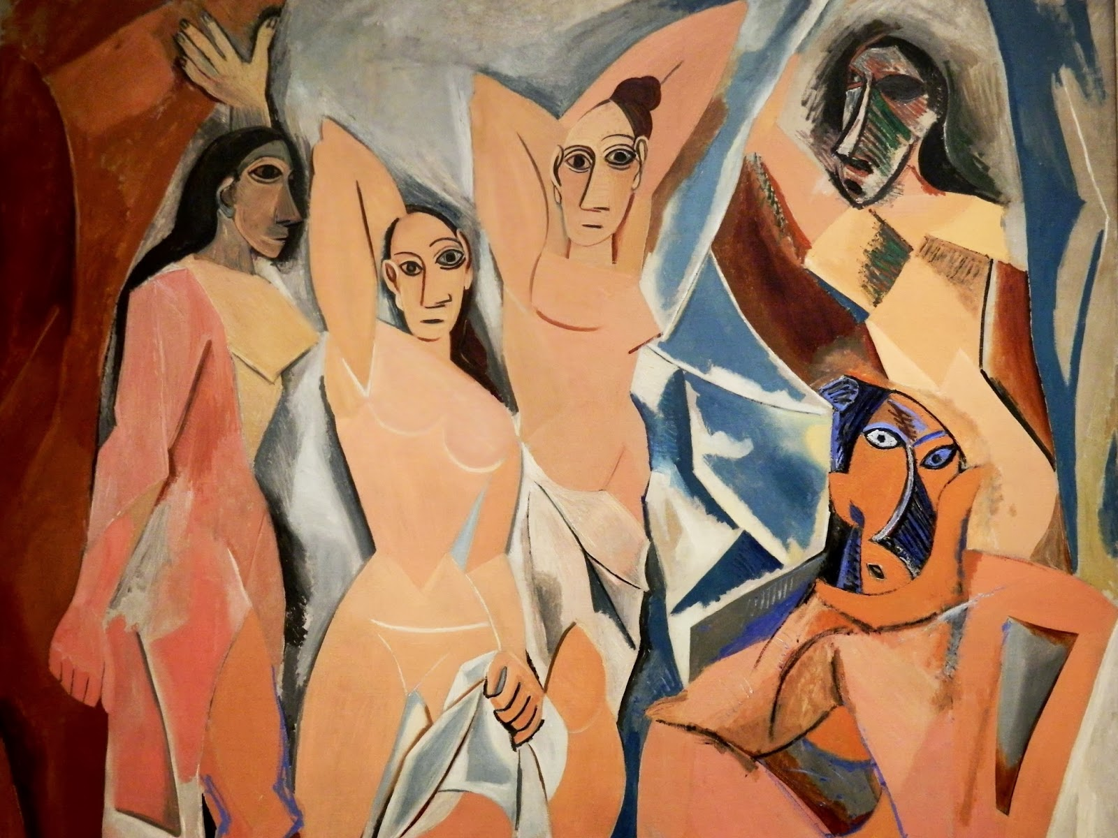 Les Demoiselles d'Avignon , Picasso, 1907,(Image courtesy of  MOMA, NYC)