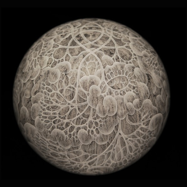 Permeable, Carol Prusa, silverpoint sphere