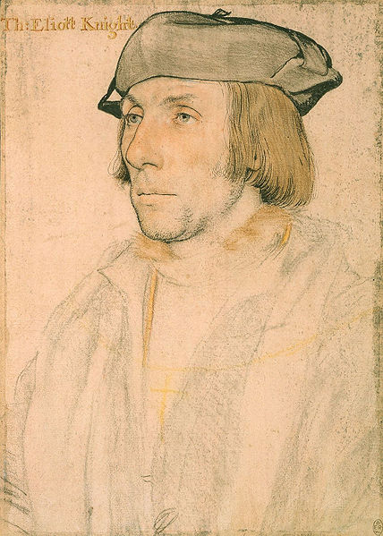 Portrait of Sir Thomas Elyot,   1532–34, chalk, pen and brush on paper (pink-primed paper), Hans Holbein the Younger (Image courtesy of the Royal Collection)