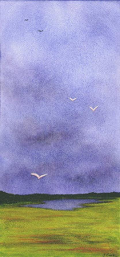 Summer Storms, watercolour.Jeannine Cook artist