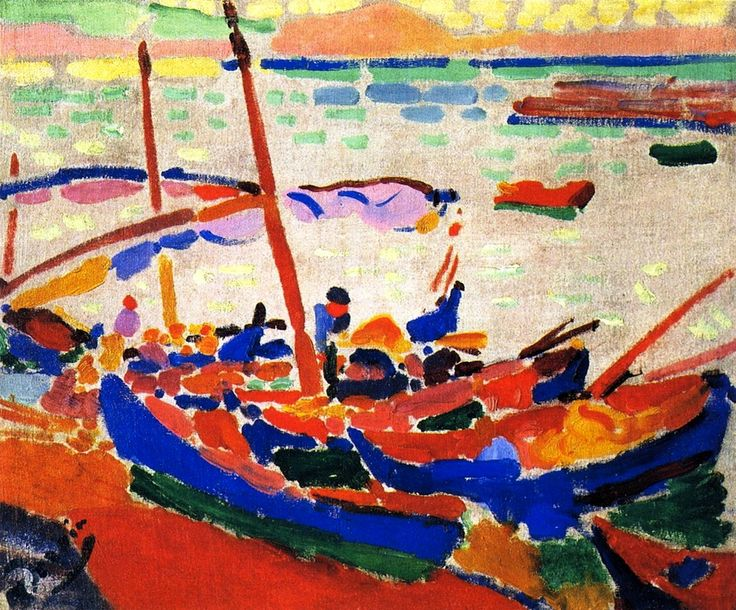 Fishing Boats, Collioure, 1905 , by Andre Derain