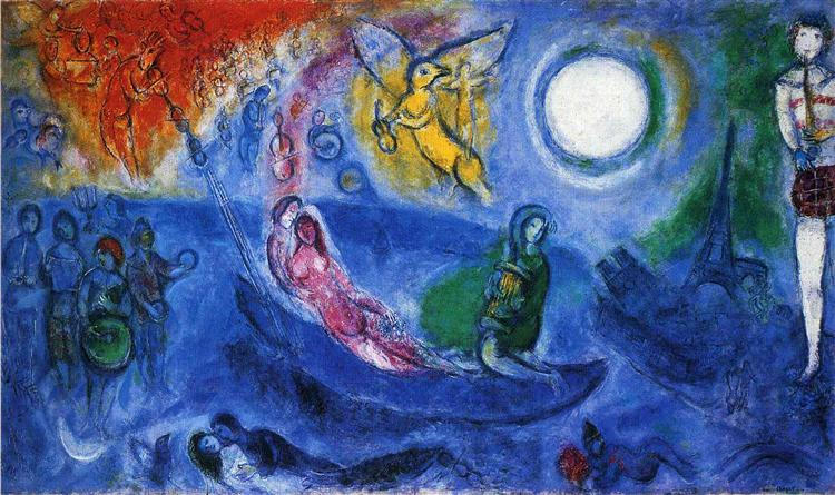 the Concert, Marc Chagall, 1957, oil on canvas, Private collection
