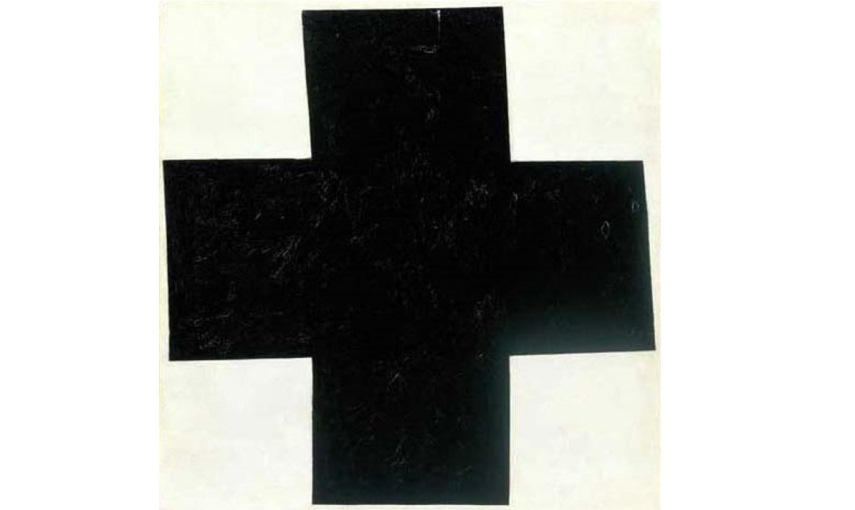 Kazimir Malevich -  Black Cross, 1915, Oil on canvas, 80 x 80 cm, Russian State Museum, St. Petersburg, Russia
