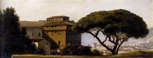 Pierre-Henri de Valenciennes - View of the Convent of Ara Coeli with Pines , 1780s, (Image courtesy of the Louvre)