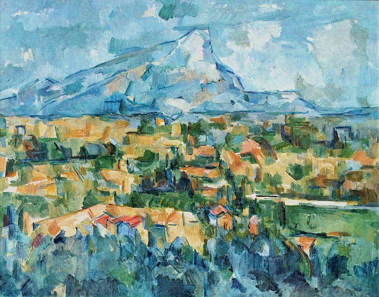 Mont Sainte Victoire, oil on canvas, 1904, Paul Cezanne (Image courtesy of the Philadelphia Museum)