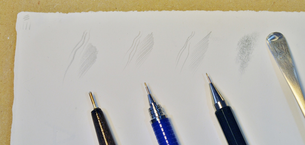 Silverpoint marks and stylii, (Image courtesy of Anita Chowdry)
