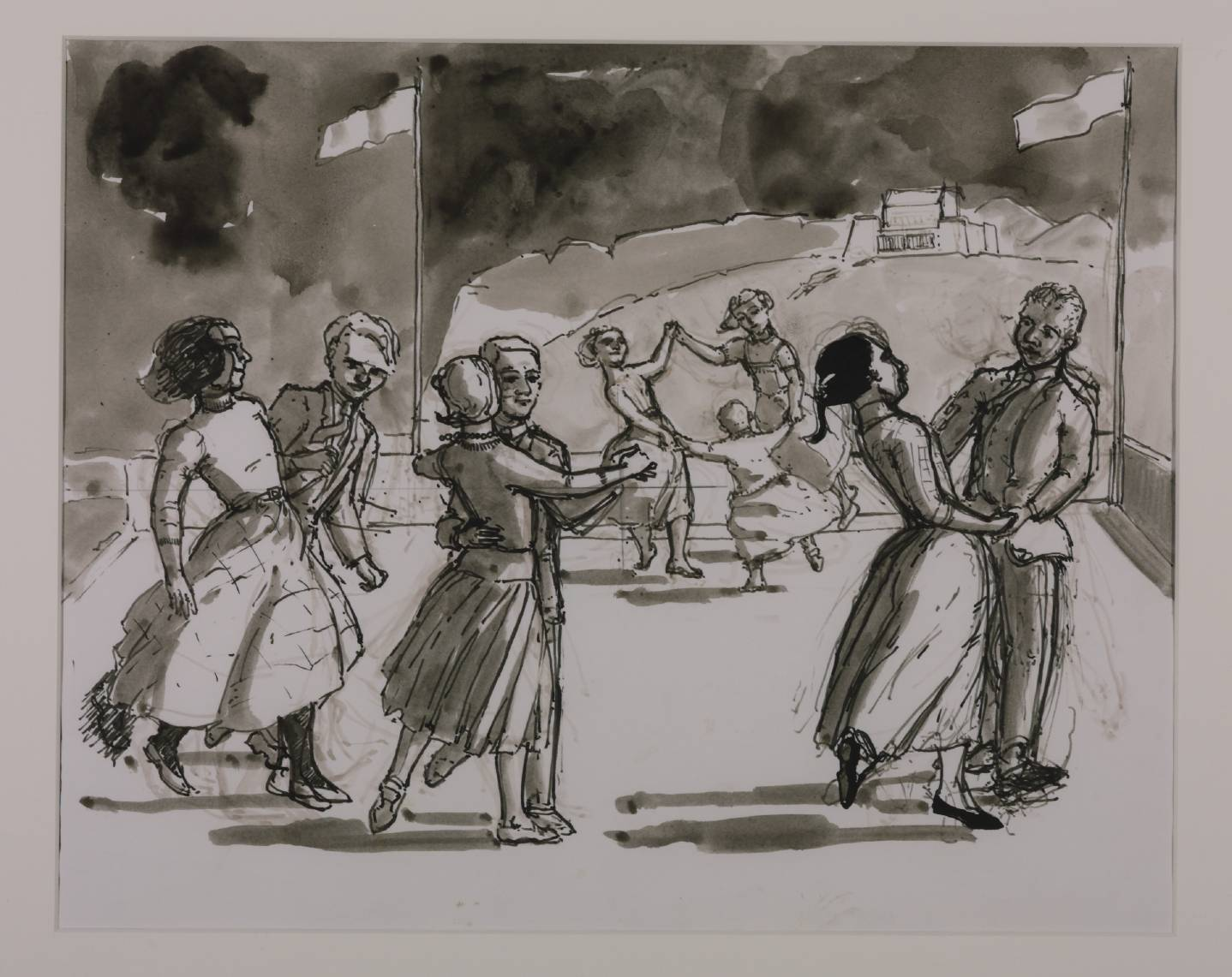 Study for 'The Dance', Paula rego (Image courtesy of the Tate)