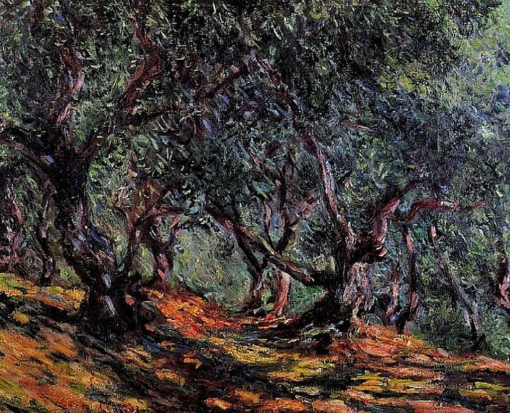 Claude Monet Olive Trees in Bordighera, 1884 oil.j