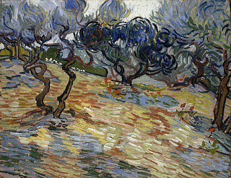 Olive Trees, oil on canvas, Vincent Van Gogh, 1889,  (Image courtesy of National Galleries of Scotland)