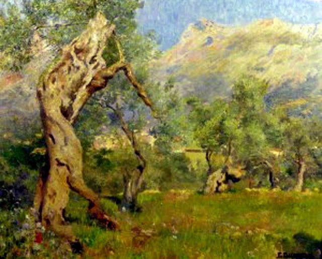 Olivos de Mallorca, .Francisco Bernareggi (Argentina, 1878 - 1959)