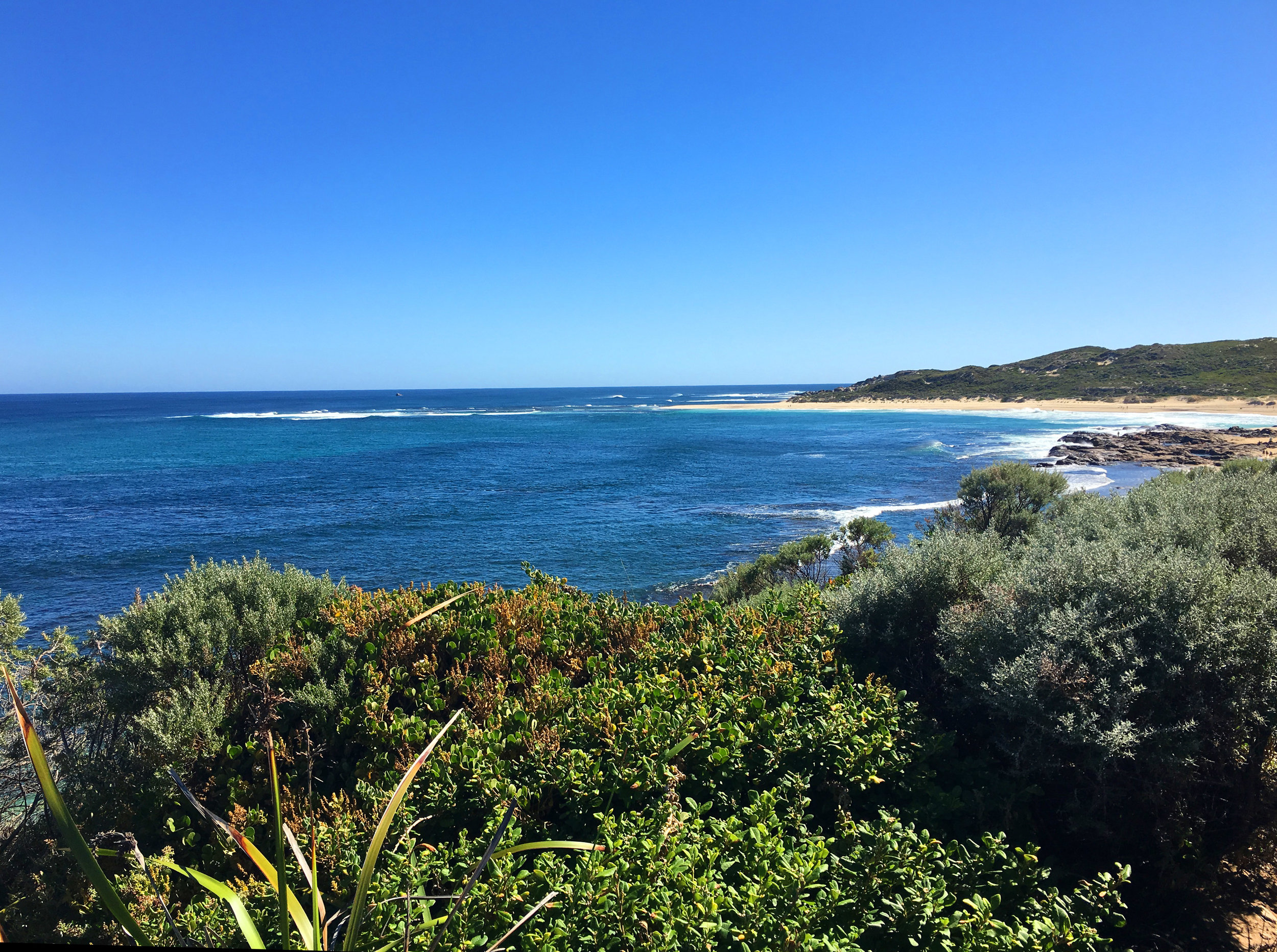 Beach south of Margaret River's entrance to the Indian Ocean, Western Australia (photograph J. Cook)