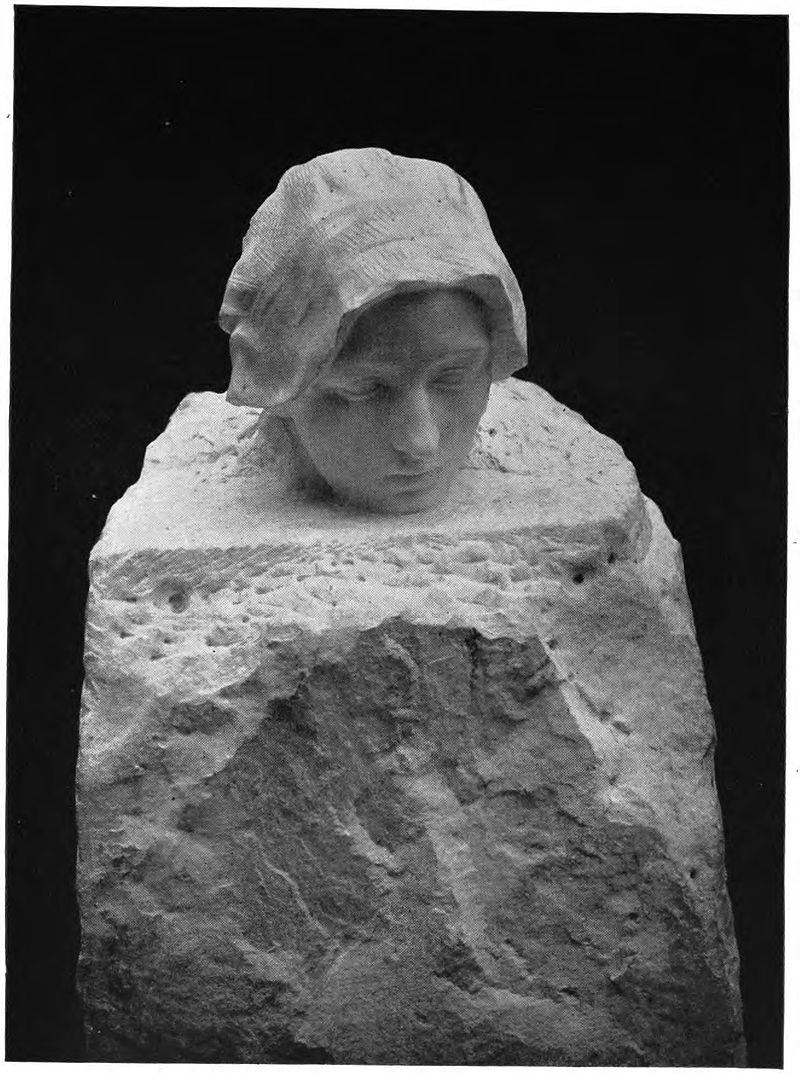 La Pensée (1901), Auguste Rodin, marble, Image courtesy of Philadelphia Museum of Art), a portrait of Camille Claudel