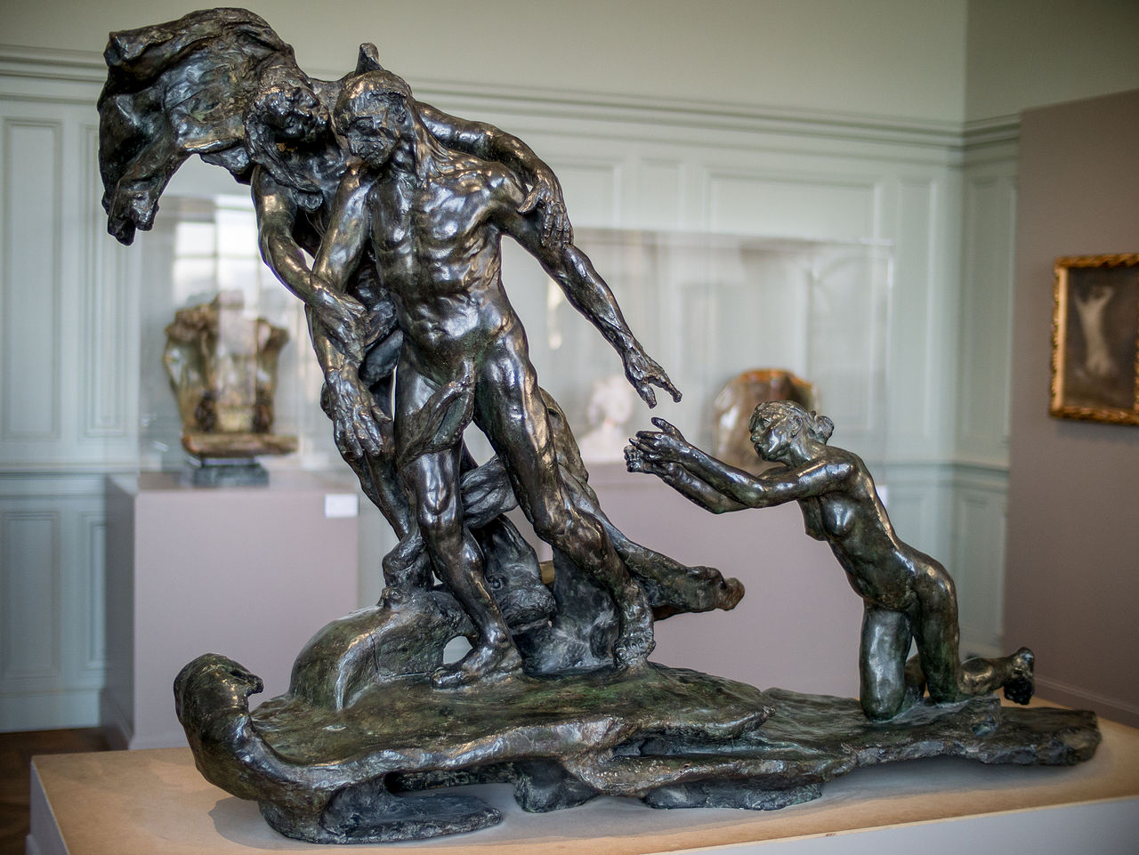 L'Âge mûr (1899), Camille Claudel, bronze, (Image courtesy of the Musée Rodin, Paris)