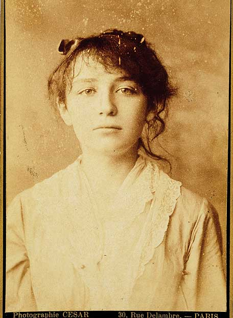 Camille Claudel aged 17, photographed by Cesar, 1881, (Image courtesy of the Musée Rodin, Paris)