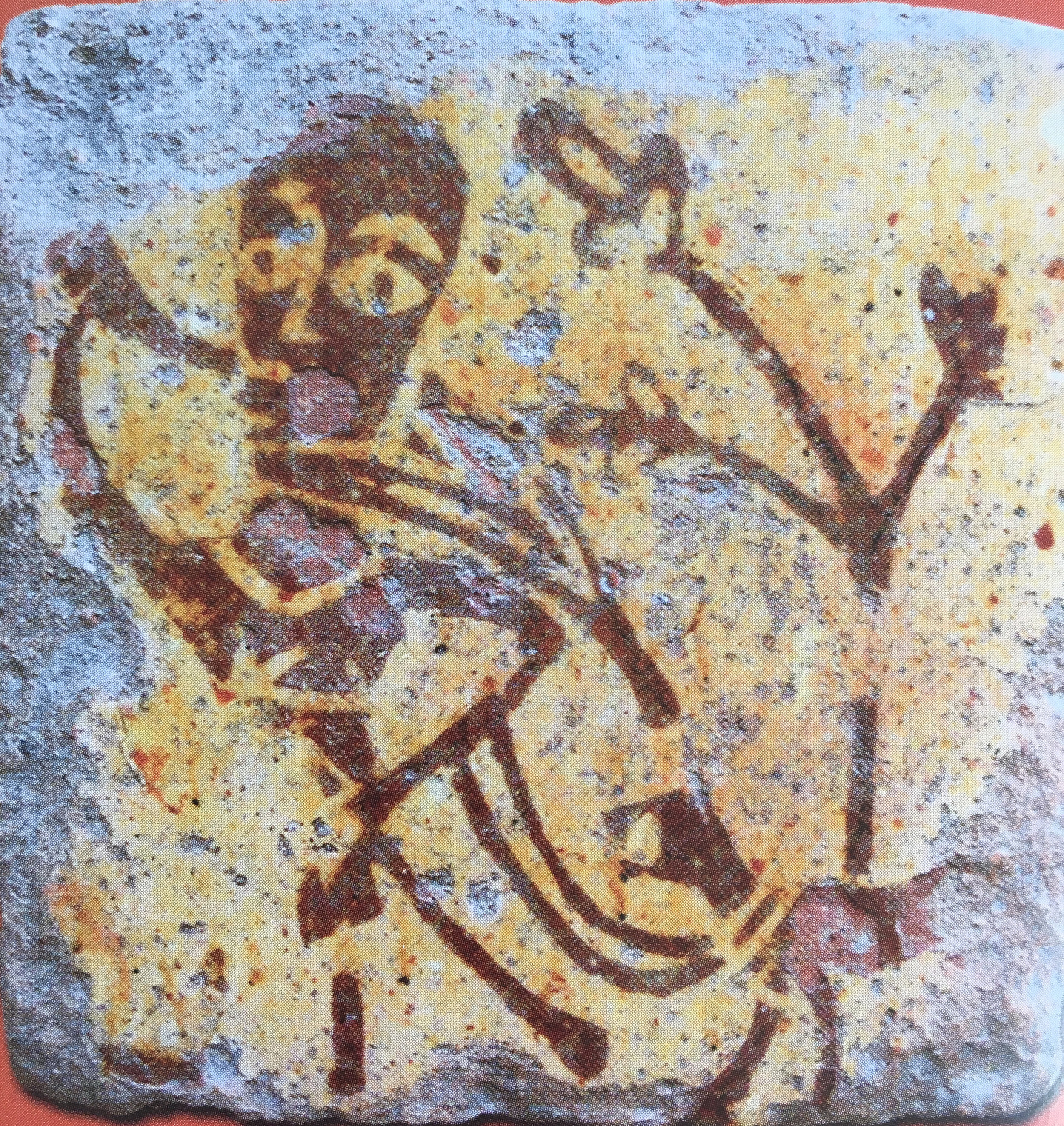 "An eloquent medieval tile in the Musée Saint Loup, Troyes (image in catalogue ""Carreaux de Pavement"")"