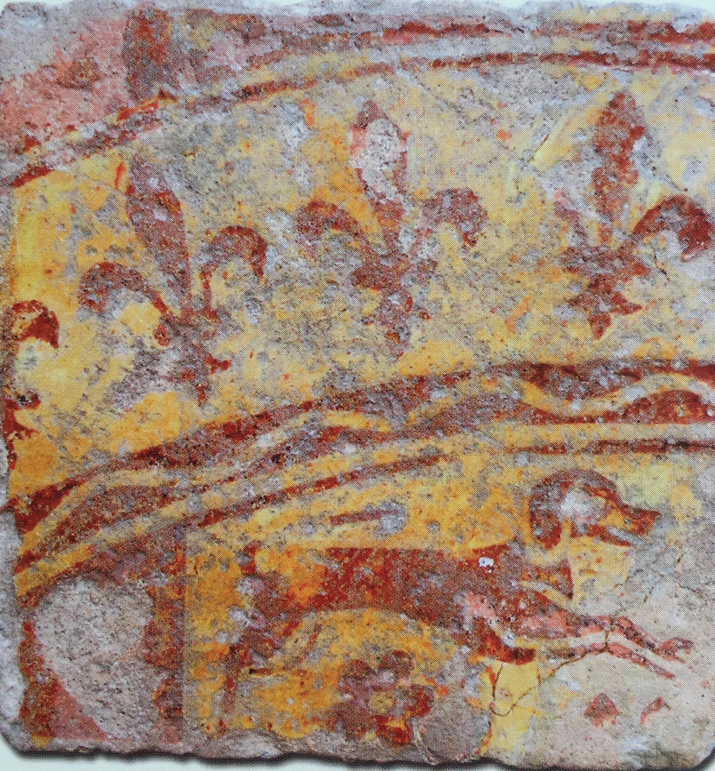 """A medieval tile about royalty and the hunt in the Musée Saint Loup, Troyes (image in catalogue """"Carreaux de Pavement"""")"""