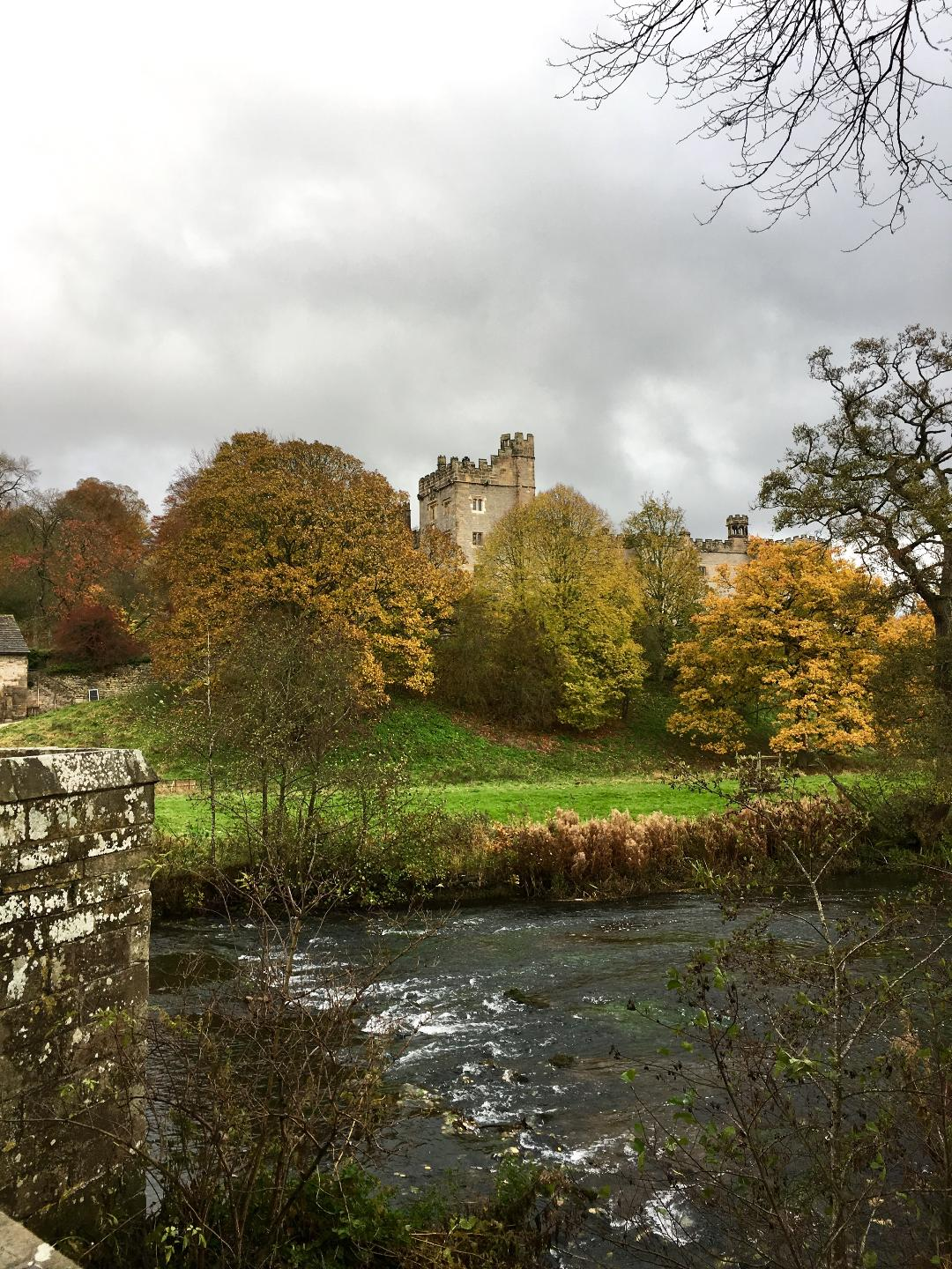 Approaching Haddon Hall, Derbyshire (photograph J. Cook)