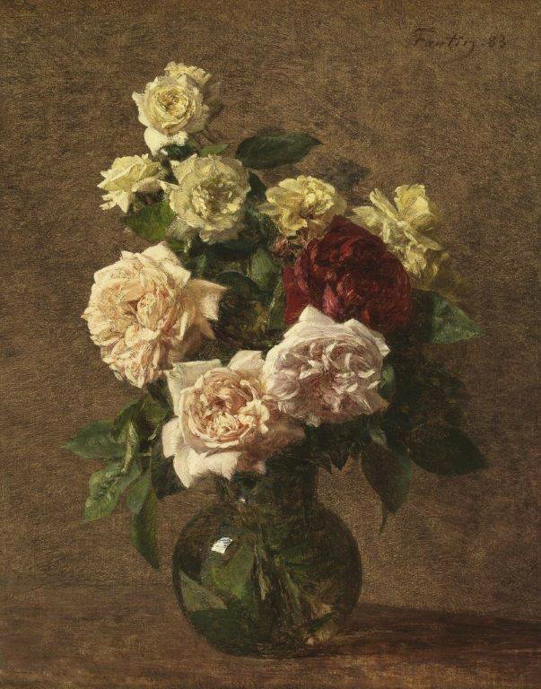 A 19th century version of flower celebration - this one, a Jug with Flowers, oil on canvas, Henri Fatin Latour, French, 1883. (image courtesy of the Museu Calouste Gulbenkian, Lisboa)