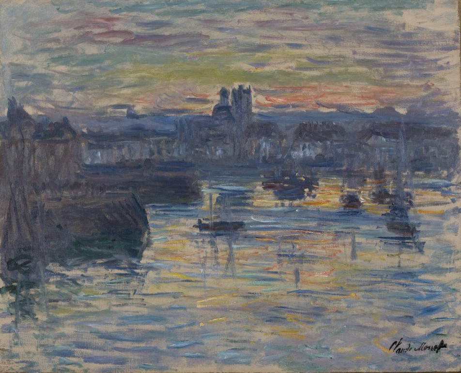 Port of Dieppe, Evening. oil on canvas, 1882, Claude Monet (Image courtesy of The Dixon Gallery and Gardens)