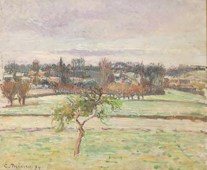 View from the Artist's Studio at Eragny, 1894, oil on canvas, Camille Pissarro (Image courtesy of The Dixon Gallery and Gardens)