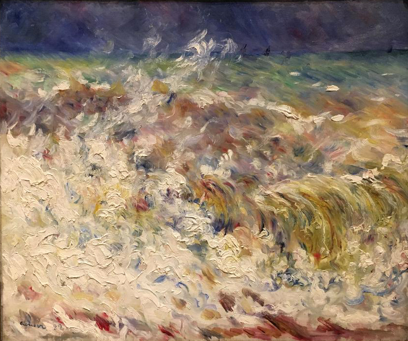 The Wave, oil on canvas, 1882, Pierre-Auguste Renoir. (Image courtesy of The Dixon Gallery and Gardens)