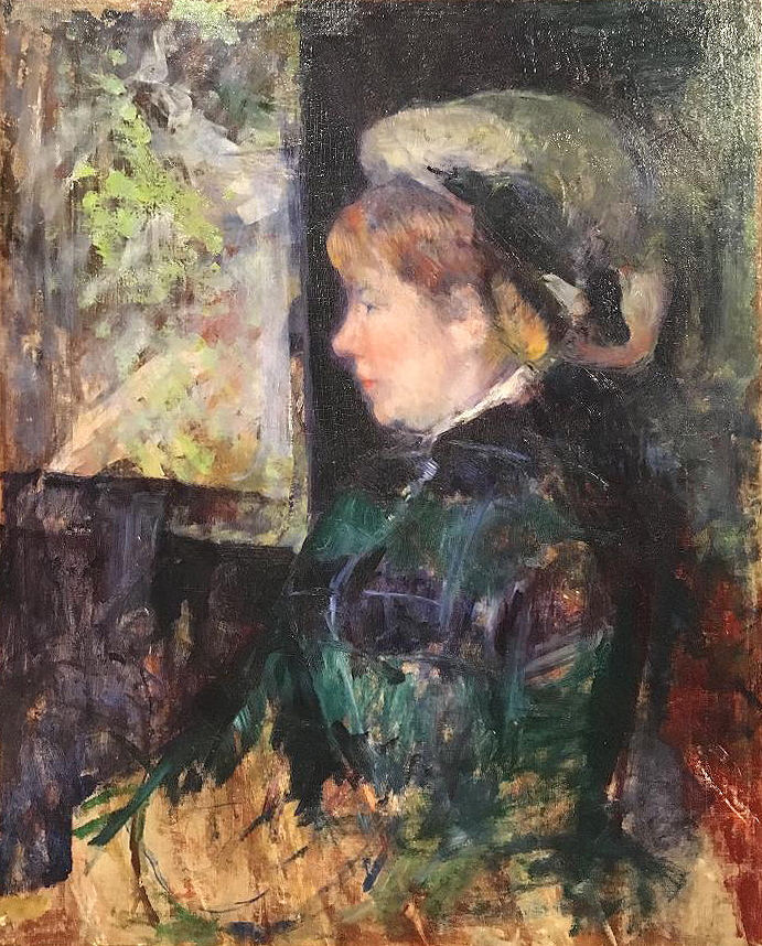 The Visitor, oil and gouache on canvas, ca. 1880, Mary Cassatt (Image courtesy of The Dixon Gallery and Gardens)