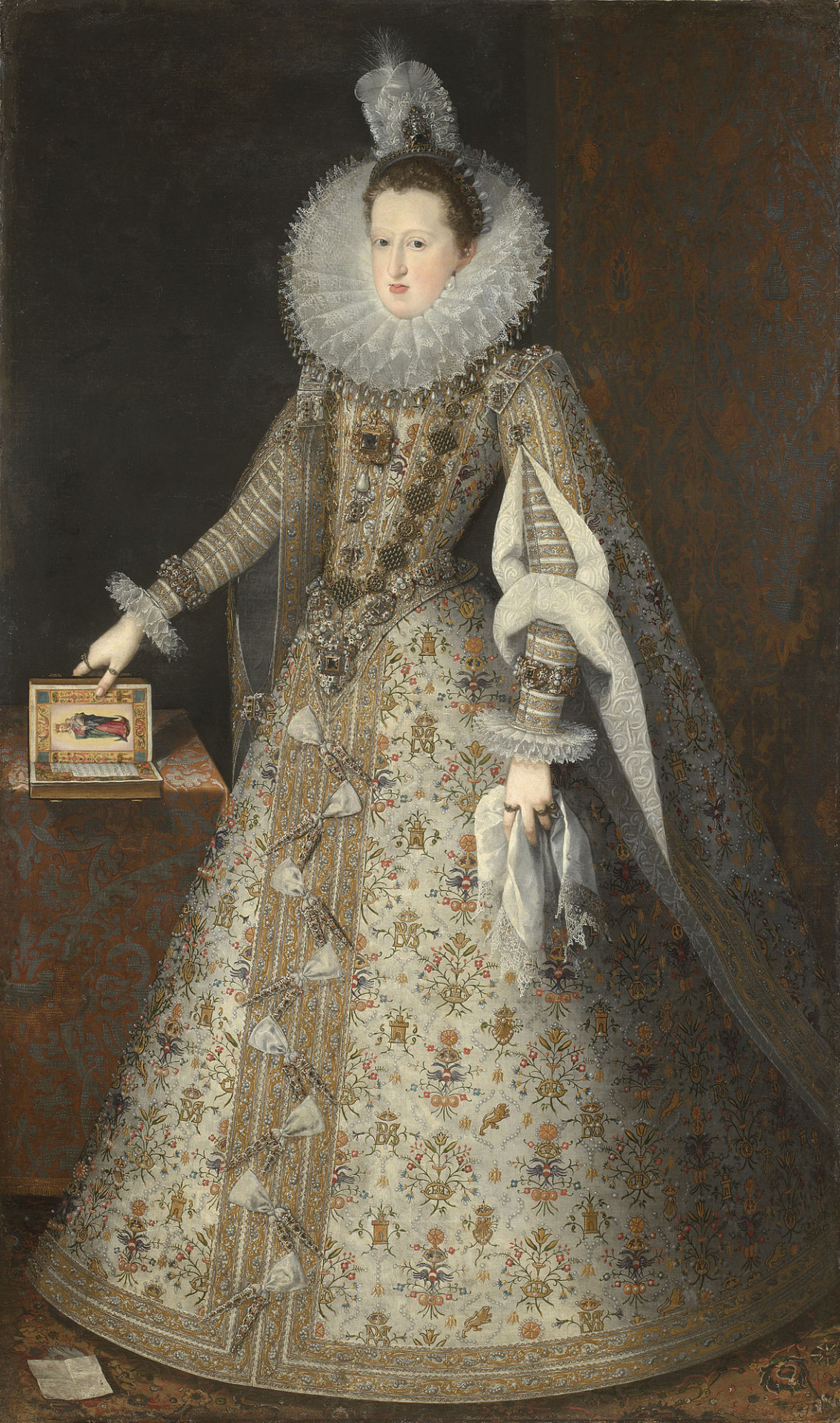 Margaret of Austria,Queen Consort of Phillip III of Spain , oil on canvas, Juan Pantoja de la Cruz. 1605. (Image courtesy of Royal Collection Trust)