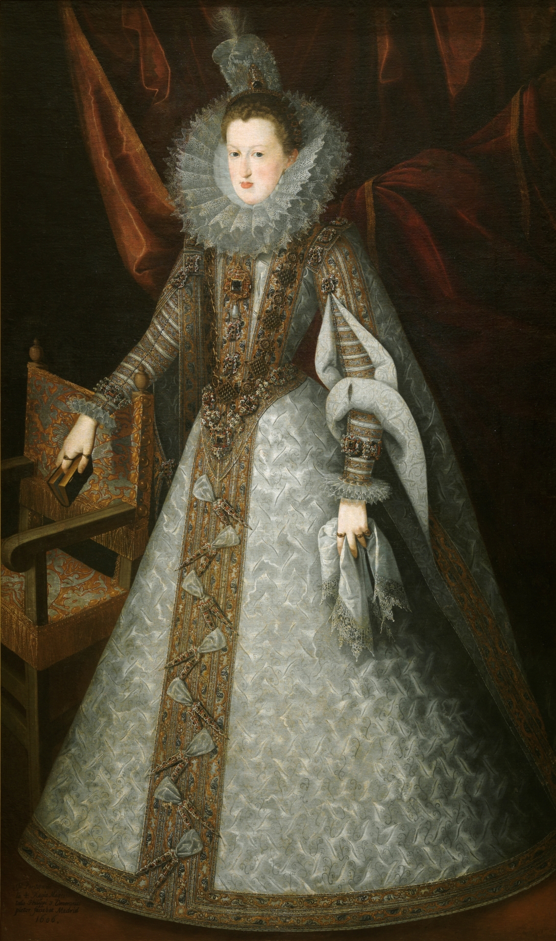 Margaret of Austria, 1606, Juan Pantoja de la Cruz, oil on canvas, (Image courtesy of Prado Museum)