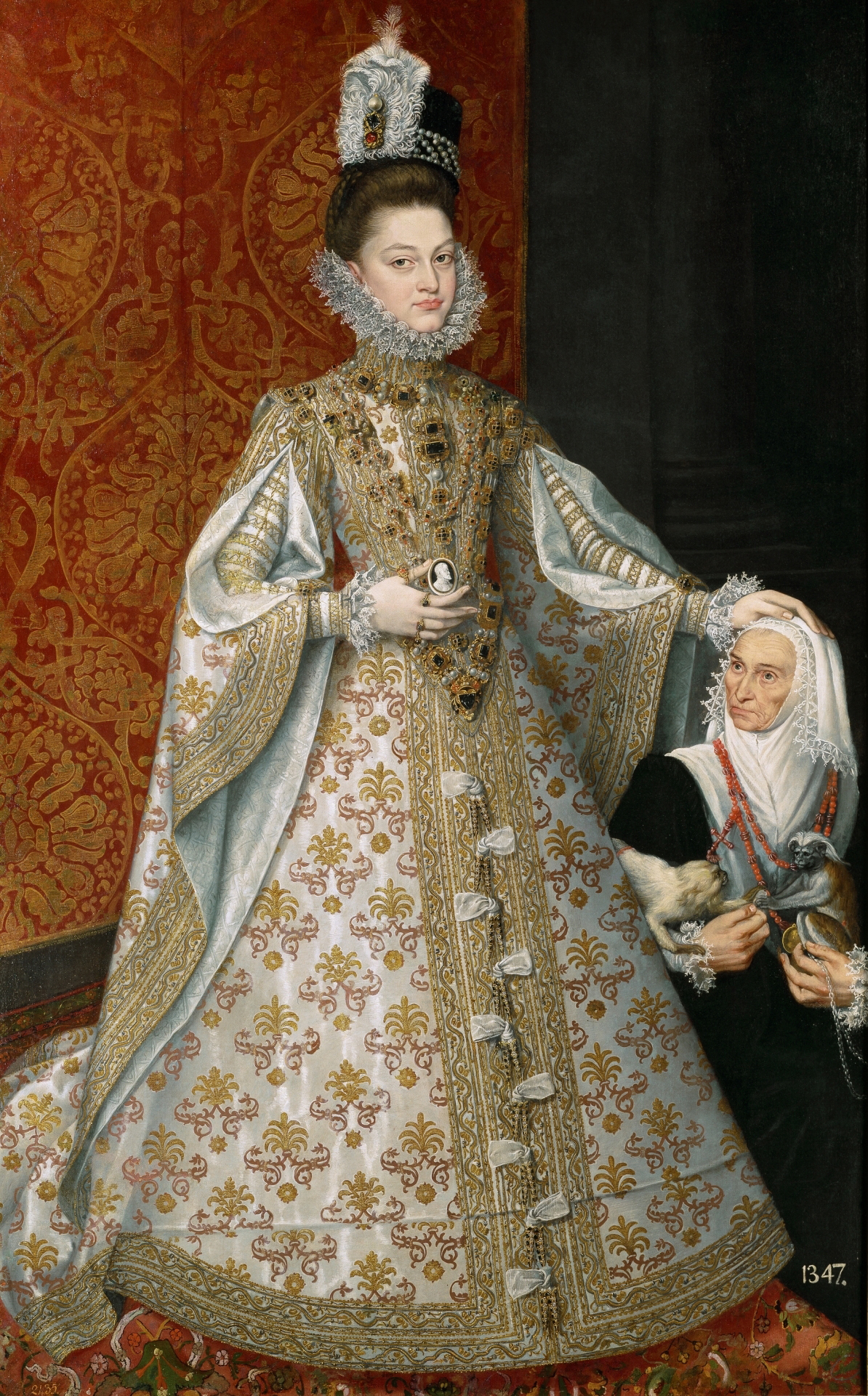 La Infanta Isabel Clara Eugenia y Magdalena Ruiz, oil on canvas, Alonso Sancho Coello, 1585-88 (Image courtesy of the Prado Museum)