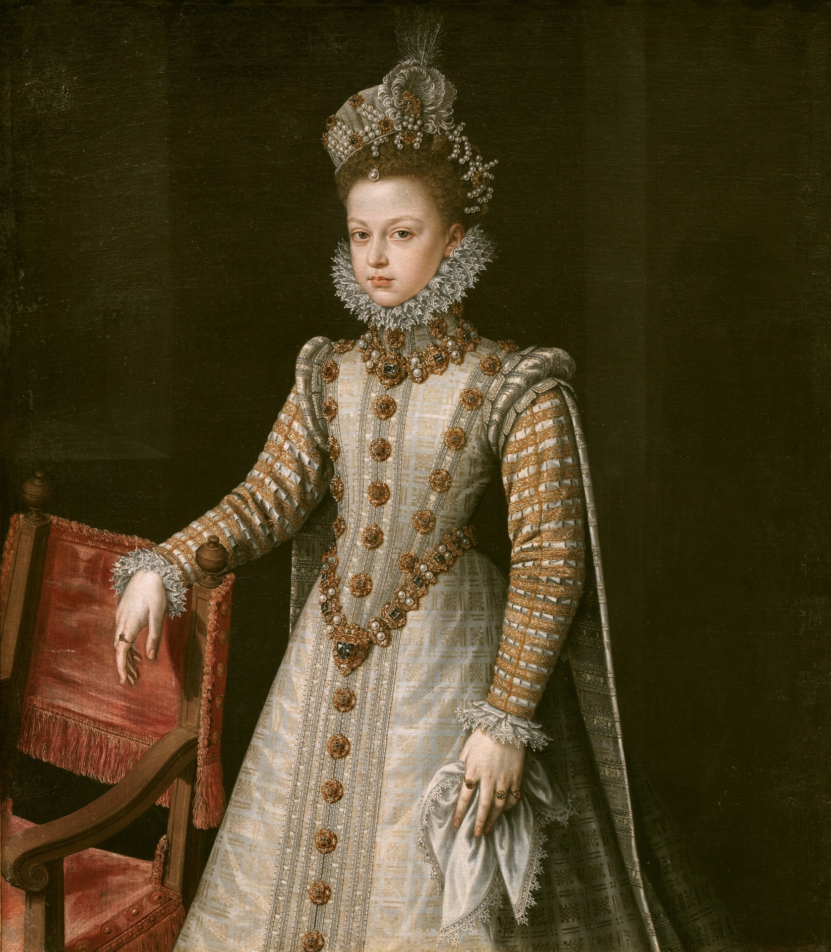 Infanta Isabel Clara Eugenia, oil on canvas, 1579,. Alonso Sanchez Coello (Image courtesy of the Prado Museum)